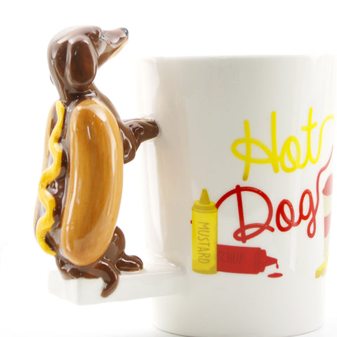 Dachshund Hotdog Sandwich Coffee Mug - I Love Cat Socks