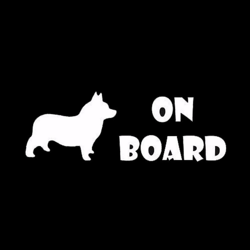 Corgi On Board Car Decal - I Love Cat Socks