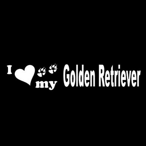 Image of I Love my Golden Retriever Car Decal