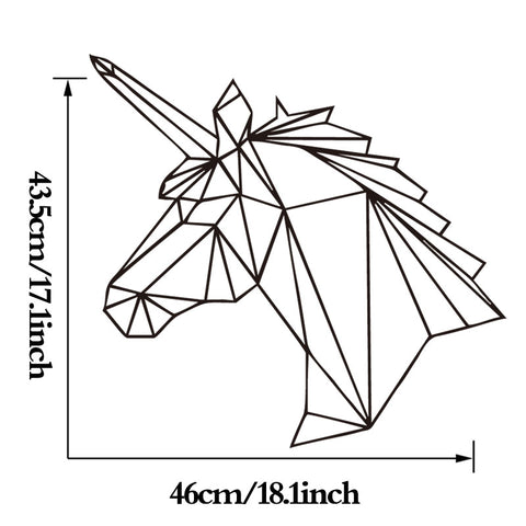 Geometric Unicorn Horse Wall Sticker - I Love Cat Socks