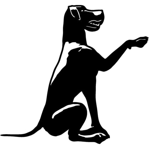 Great Dane Dog Want To Shake Hand Car Decal