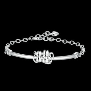 Cute Cat Silver Design Bracelets - I Love Cat Socks
