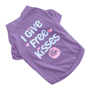 I Give Free Kisses Cat Dog Shirt