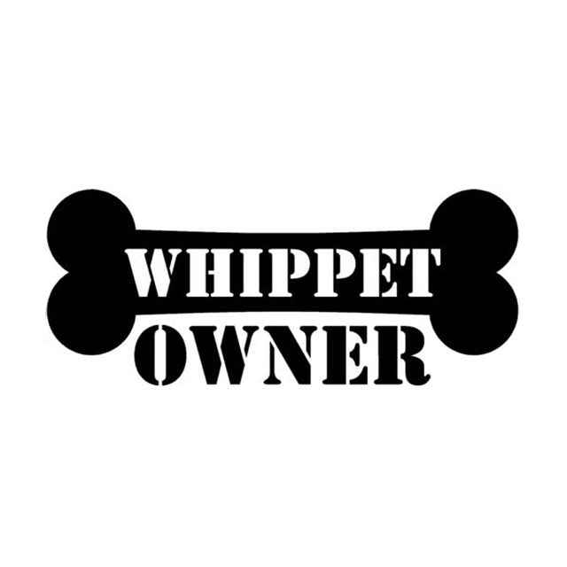 Proud Whippet Owner Car Decal