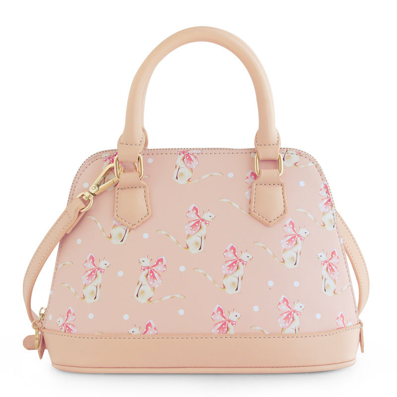 Cat Pink Shoulder Bag