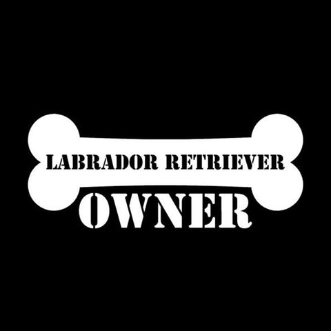 Image of Labrador Retriever Owner Car Decal