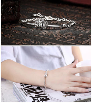 Cute Cat Silver Design Bracelets