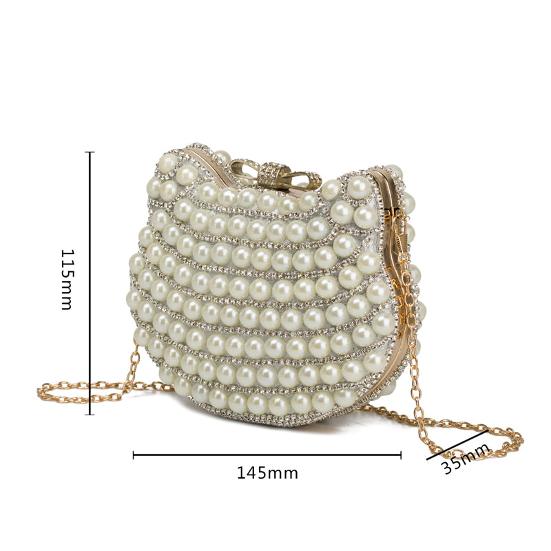 Pearl Evening Bag Cat Design