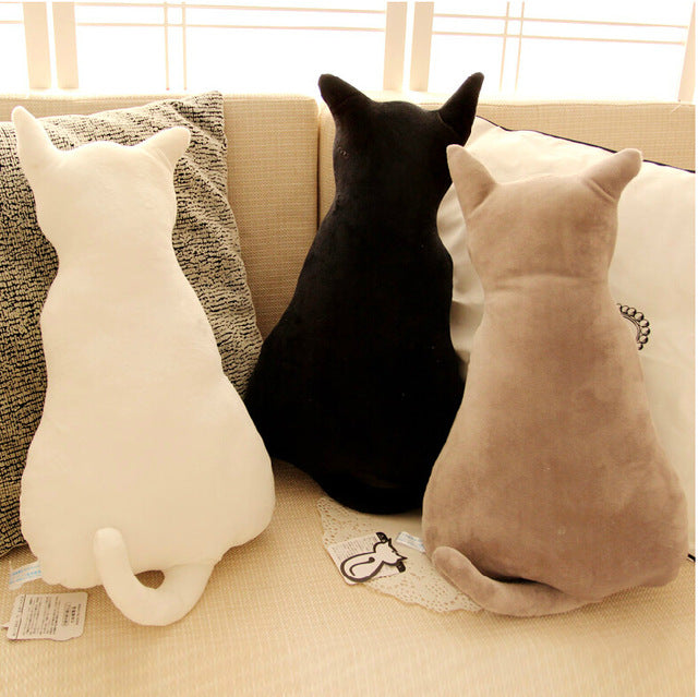 Cat Back Soft Plush Pillow Bundle - I Love Cat Socks