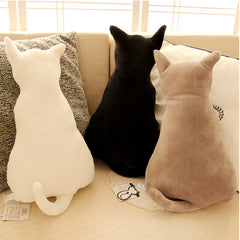 Cat Back Soft Plush Pillow Bundle