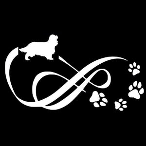 Cavalier Eternity Animal Paw Print Car Decal