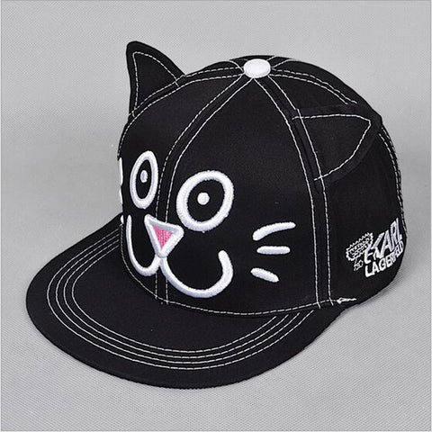 Happy Kitten Design Cap