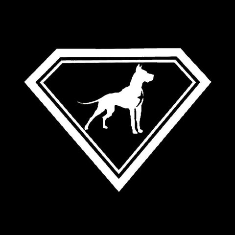 "Image of ""Super Dane"" Great Dane Car Decal - I Love Cat Socks"