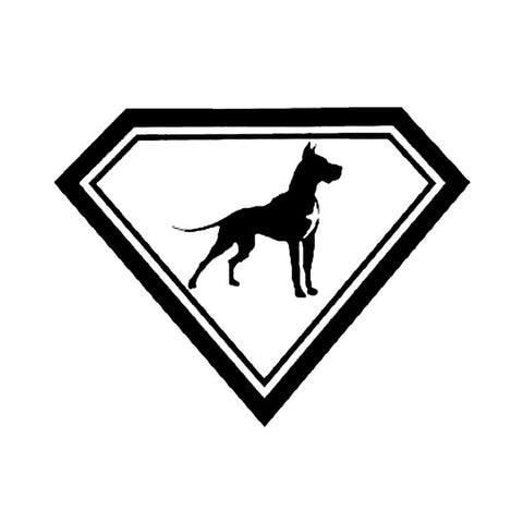 """Super Dane"" Great Dane Car Decal"