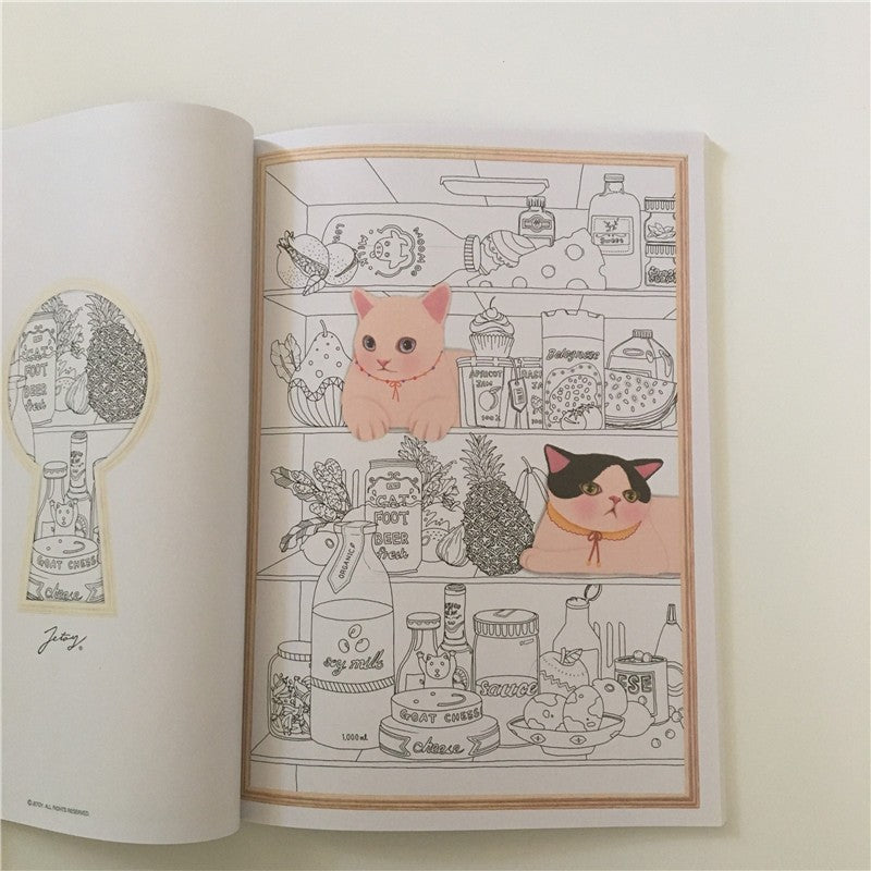 Lovely Cat Coloring Book