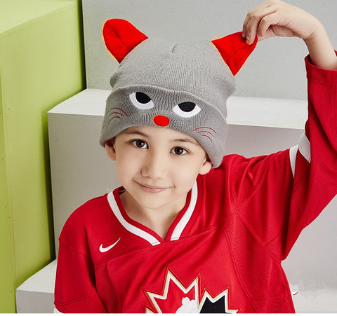 Image of Unisex Cartoon Cat Design Cap