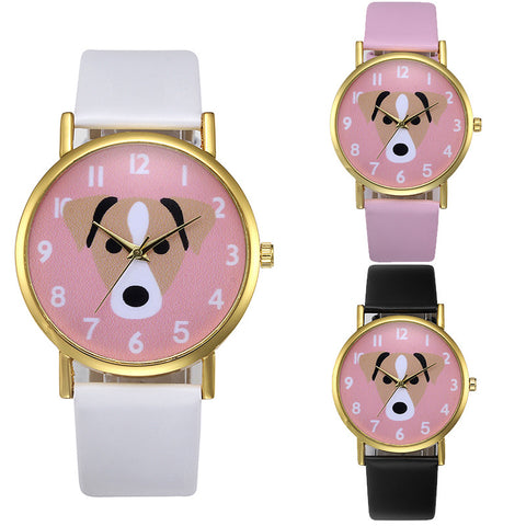Cute Dog Pattern Wrist Watch - I Love Cat Socks