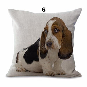 Collectible Basset Hound Painting Cushion Cover - I Love Cat Socks
