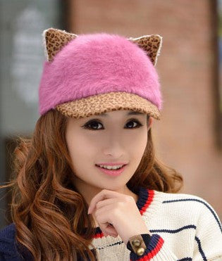 Image of Women's Soft Cat Ears Baseball Cap - Save Over 60% Today - I Love Cat Socks - 4
