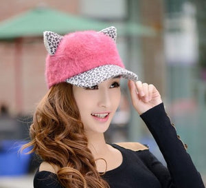Women's Soft Cat Ears Baseball Cap