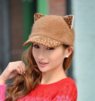 Image of Women's Soft Cat Ears Baseball Cap - Save Over 60% Today - I Love Cat Socks - 5