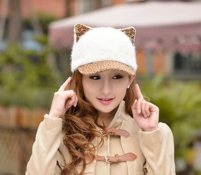 Image of Women's Soft Cat Ears Baseball Cap - Save Over 60% Today - I Love Cat Socks - 3