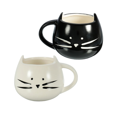 Cat Face Shaped Mug