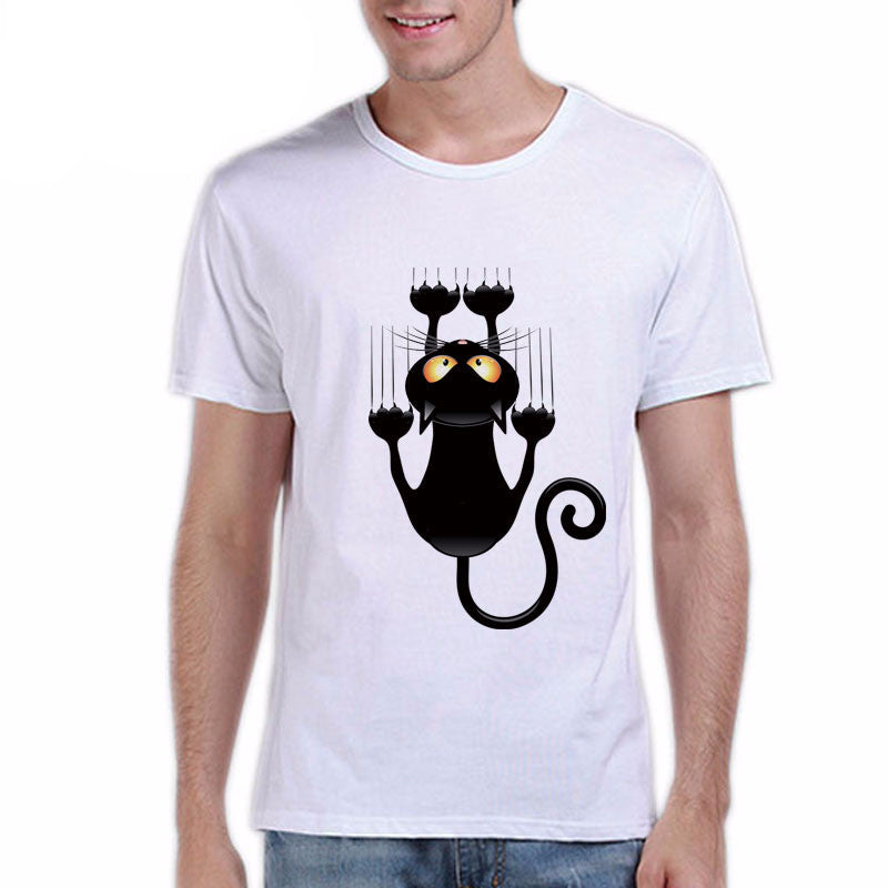 Cat Falling Down Design Men's Shirt - I Love Cat Socks
