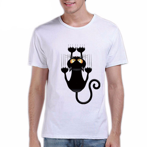 Image of Cat Falling Down Design Men's Shirt - I Love Cat Socks