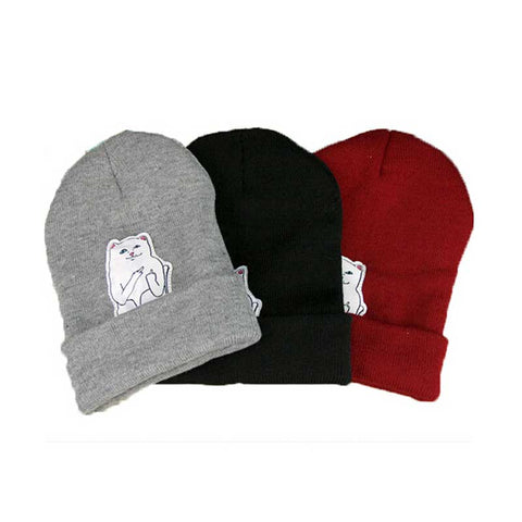 Image of Women Cat Knitted Beanie