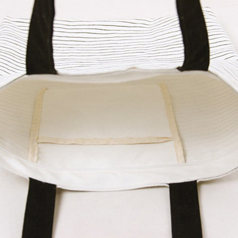Image of Cat Striped Shoulder Bag - I Love Cat Socks