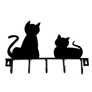 Black Cat Metal Clothes Hanger