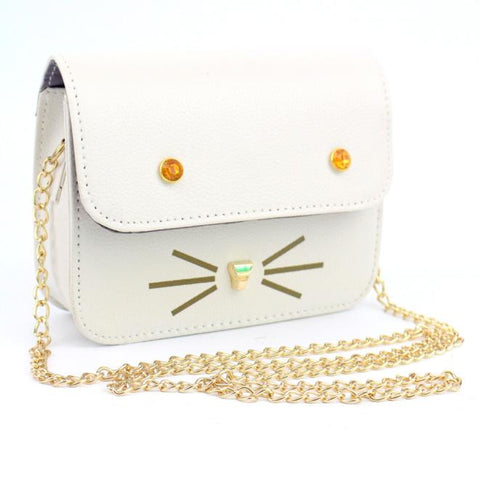 Image of Cute Cat Face Design Shoulder Bag - I Love Cat Socks