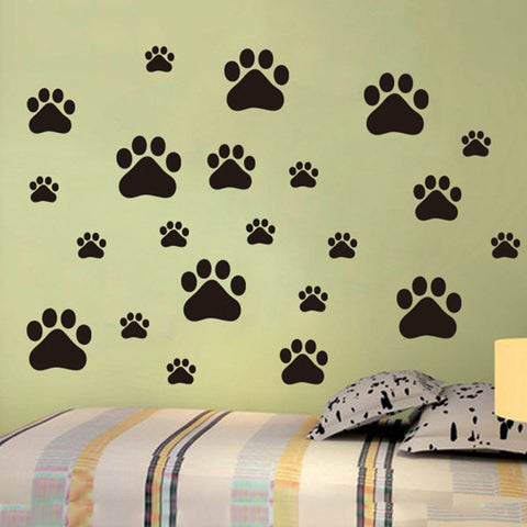 Cat Dog Paw Wall Decals - I Love Cat Socks