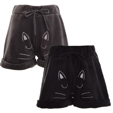 Image of Cute Cat Design Beach Short - I Love Cat Socks