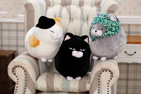 Image of Round Fat Cat Plush Toy