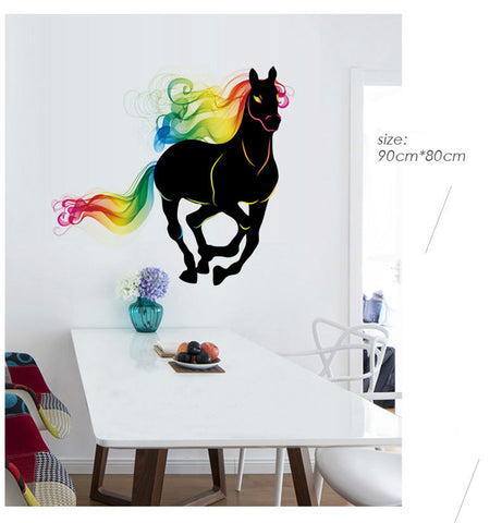 Image of Colorful Horse Wall Sticker - I Love Cat Socks