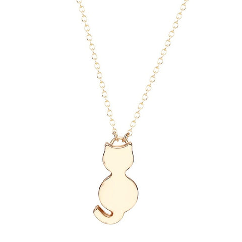 Image of Simple Cat Body Design Necklace