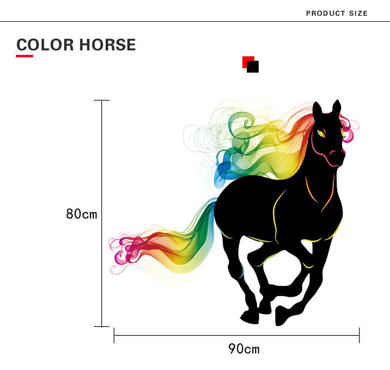 Colorful Horse Wall Sticker - I Love Cat Socks