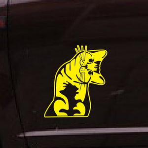 Wondering Cat Car Decal
