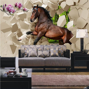 3D Galloping  Horses Wallpaper