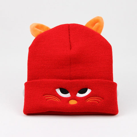 Unisex Cartoon Cat Design Cap