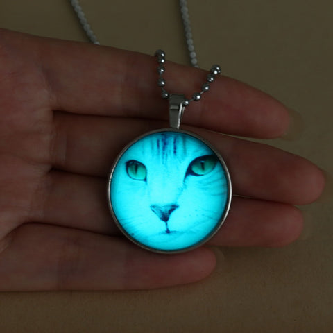 Glow In The Dark Cat Necklace
