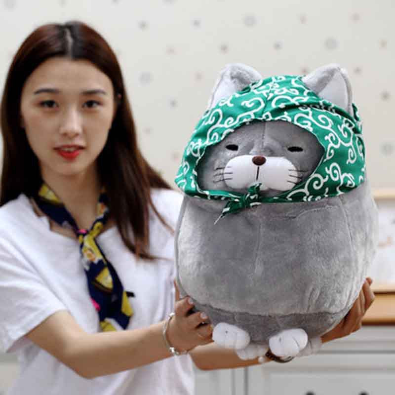 Round Fat Cat Plush Toy