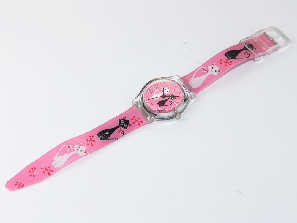 Cat Pink Wrist Watch - I Love Cat Socks