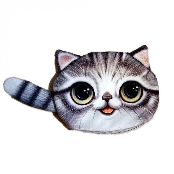 3D Cat Coin Purse - I Love Cat Socks