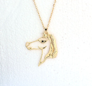 Hollow Horse Head Pendant