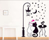 Cat Couple Under the Moonlight Wall Sticker