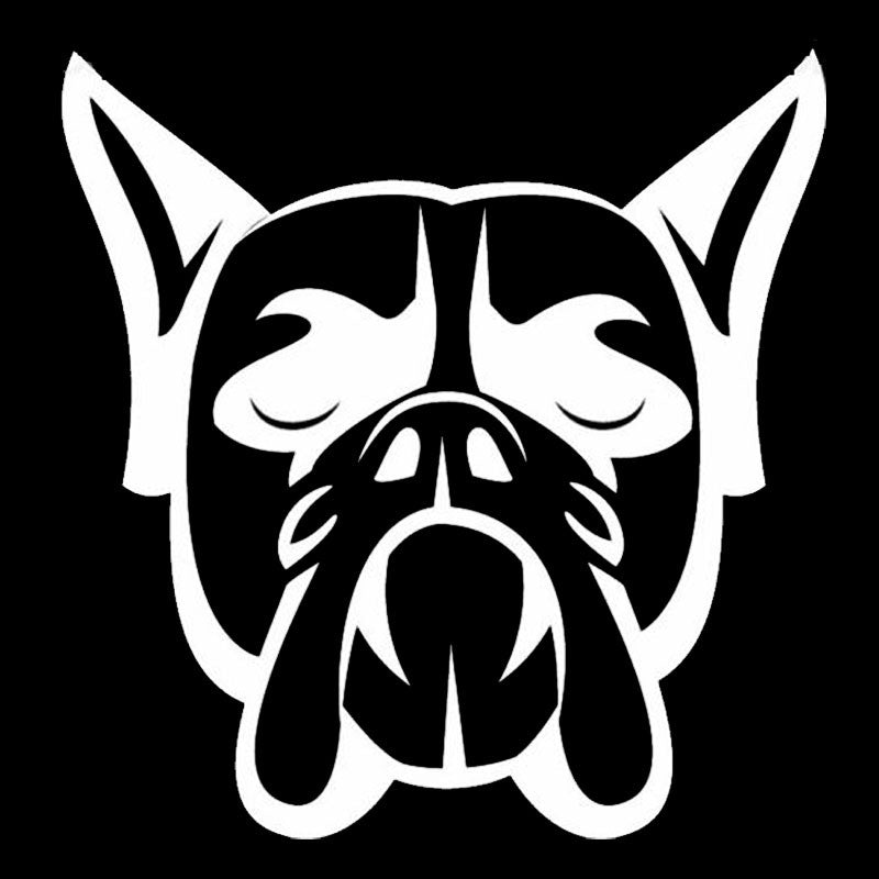 Boxer Dog Head Car Decal - I Love Cat Socks