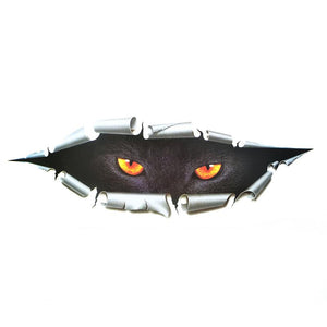 Scary Cat Eye Car Decal